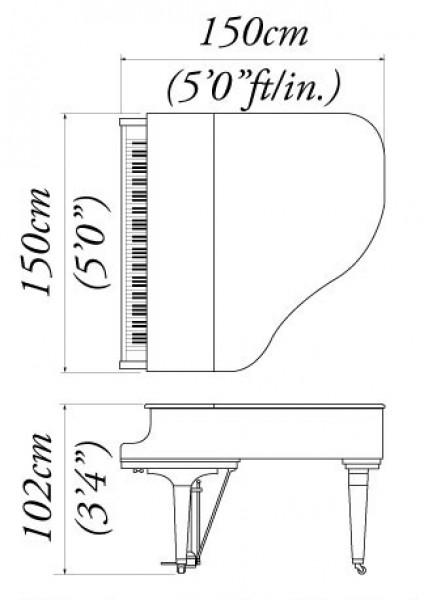 Kawai Gm 10 Grand Piano